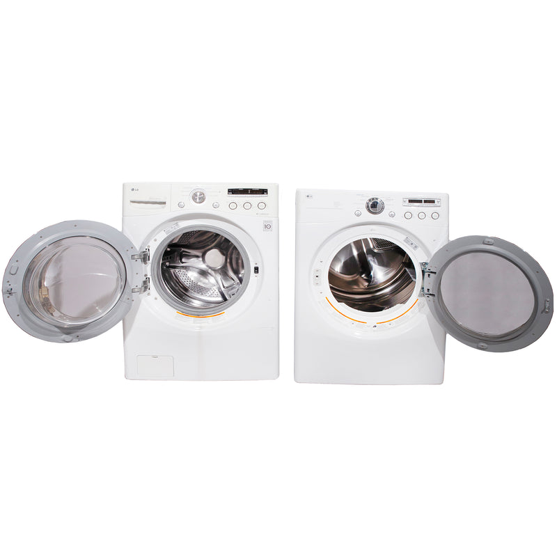 LG 27'' Stackable Laundry Pair Duos laveuse-sécheuse superposable WM2150HW and DLE5955W (1)