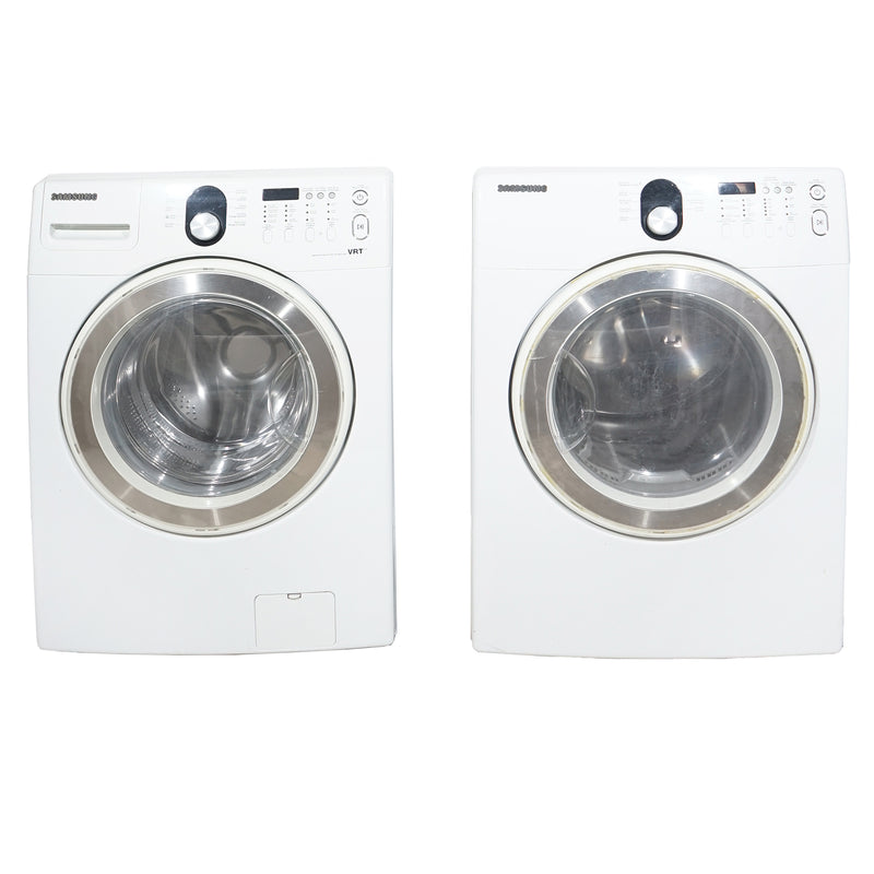 Samsung 27'' Stackable Laundry Pair Duos laveuse-sécheuse superposable WF218ANW/XAC01 and DV218AEW/XAC Blanc