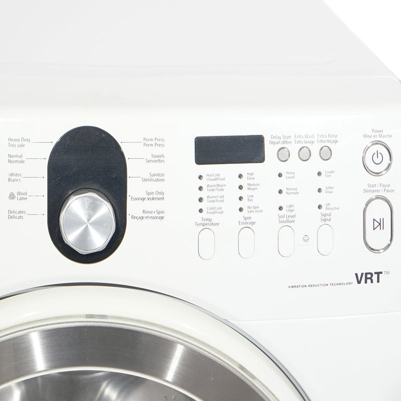 Samsung 27'' Stackable Laundry Pair Duos laveuse-sécheuse superposable WF218ANW/XAC01 and DV218AEW/XAC Blanc (2)