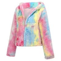 Colorful wool sweater coat