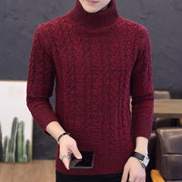 Autumn New Solid Colors Jumper men Turtleneck Sweater Dress winter High Elasticity Slim Pullover Men Knitwear Men Clothing 7873