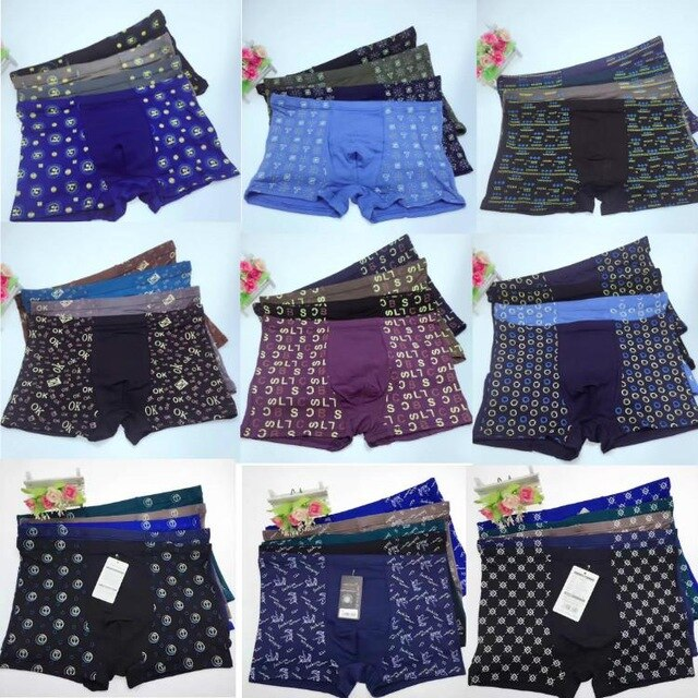 3PCS 2XL/3XL/4XL/5XL/6XL/7XL Big and Tall Mens Underwear Shorts Material Wearing Comfortable Hot Short Homme under pants