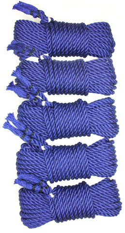 Chroma Blue 8 jute rope (8 m x 5-pack)