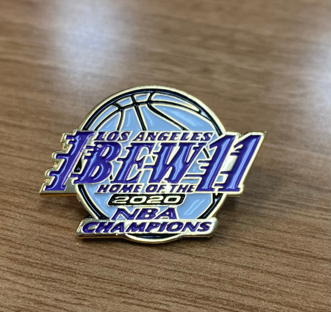 2020 Lakers NBA Champions Pin