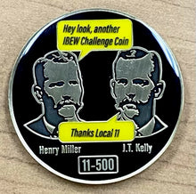 Load image into Gallery viewer, Founder Series Challenge Coin: Henry Miller / J.T. Kelly (1 of 5)