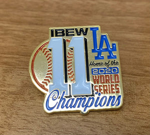 2020 Dodgers World Series Champions Pin