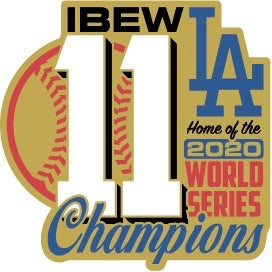 2020 Dodgers World Series Champions Sticker