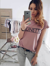 Load image into Gallery viewer, cross-border new   explosion letter print short-sleeved casual T-shirt
