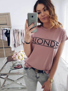 cross-border new   explosion letter print short-sleeved casual T-shirt