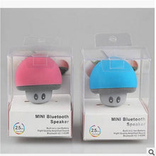Load image into Gallery viewer, Cartoon small mushroom head Bluetooth speaker small suction cup creative mini mobile phone flat bracket portable outdoor small stereo
