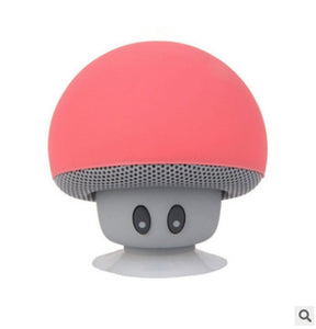 Cartoon small mushroom head Bluetooth speaker small suction cup creative mini mobile phone flat bracket portable outdoor small stereo