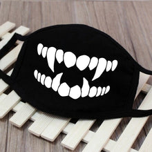Load image into Gallery viewer, Cotton  Dust Mask Cartoon Expression Teeth Muffle  Chanyeol Face Respirator Anti  Kpop Bear Mouth Mask