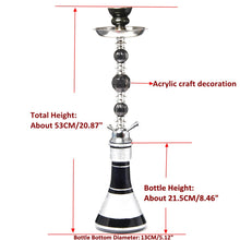 Load image into Gallery viewer, Travel Glass Shisha Hookah Pipe Chicha Narguile Completo Nargile Waterpijp with Sheesha Ceramic Bowl Charcoal Tongs Accessories