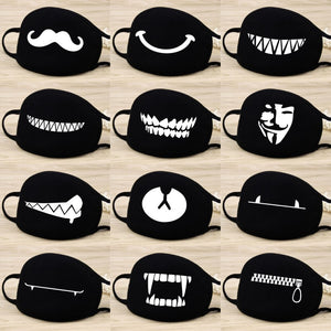 Cotton  Dust Mask Cartoon Expression Teeth Muffle  Chanyeol Face Respirator Anti  Kpop Bear Mouth Mask
