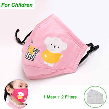 Load image into Gallery viewer, * Cotton PM2.5 Black mouth Mask anti dust mask Activated carbon filter Windproof Mouth-muffle bacteria proof Flu Face masks Care