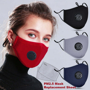 Anti Haze Anti-dust Mask Activated Carbon Mask Filter Respirator Washable Reusable Masks Cotton Unisex Mouth Muffle Accessories 1