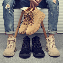 Load image into Gallery viewer, Martin boots men's season   American royal trend tooling boots wild couple models retro leather oversized men's boots