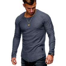 Load image into Gallery viewer, Men Cotton Regular Solid Full Sleeve Regular Tees