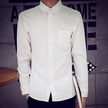 Load image into Gallery viewer, Men Cotton Solid Casual Full Sleeve Regular Shirts