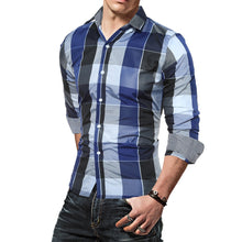 Load image into Gallery viewer, Men Polyester Regular Casual Full Sleeve Checkered Shirts