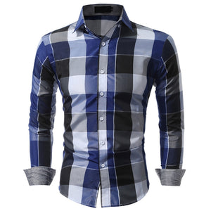 Men Polyester Regular Casual Full Sleeve Checkered Shirts