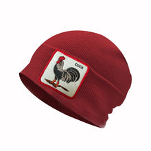 Load image into Gallery viewer, New autumn and winter windproof cap rooster winter hat Donald Duck embroidered patch knit animal wool hat warm headgear