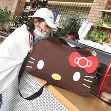Load image into Gallery viewer, Spring new casual big bag fashion cat portable travel bag cartoon single shoulder bag storage bag