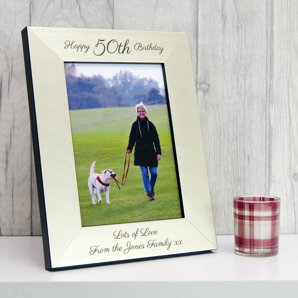 Personalised 50th Birthday Photo Frame