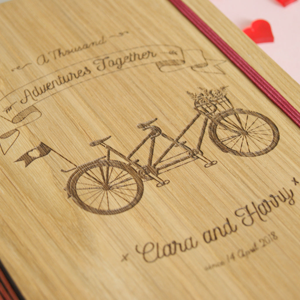 'New Adventures' Wedding Planner Engraving Detail