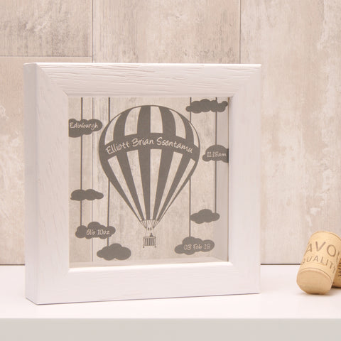 Personalised Baby Balloon Mini Papercut