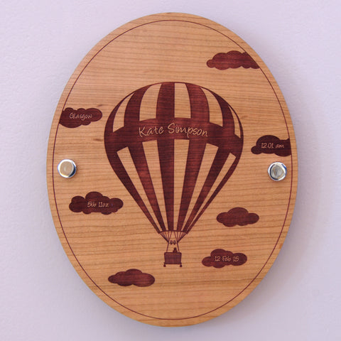 Personalised Baby Balloon Wall Plaque