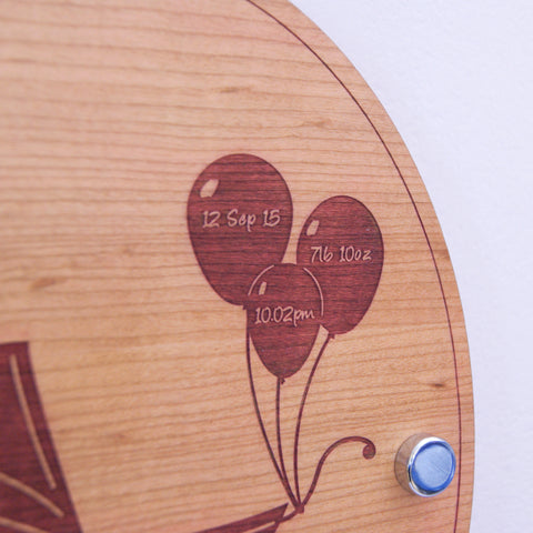 Personalised Baby Victorian Pram Wall Plaque