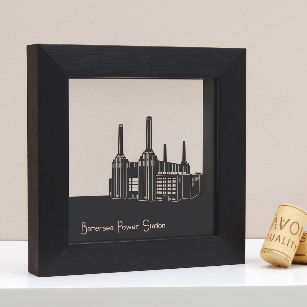 Battersea Power Station in Matt Black