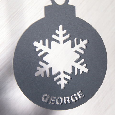 Personalised Frost Acrylic Christmas Tree Decoration