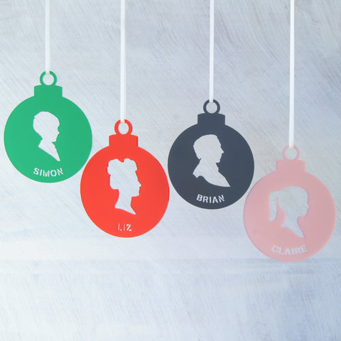 Personalised Portrait Christmas Tree Decoration