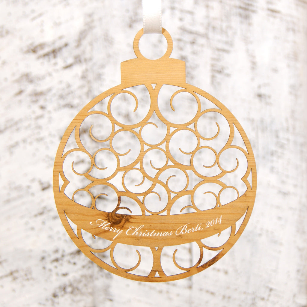 Personalised Christmas Decoration - Hanging Bauble