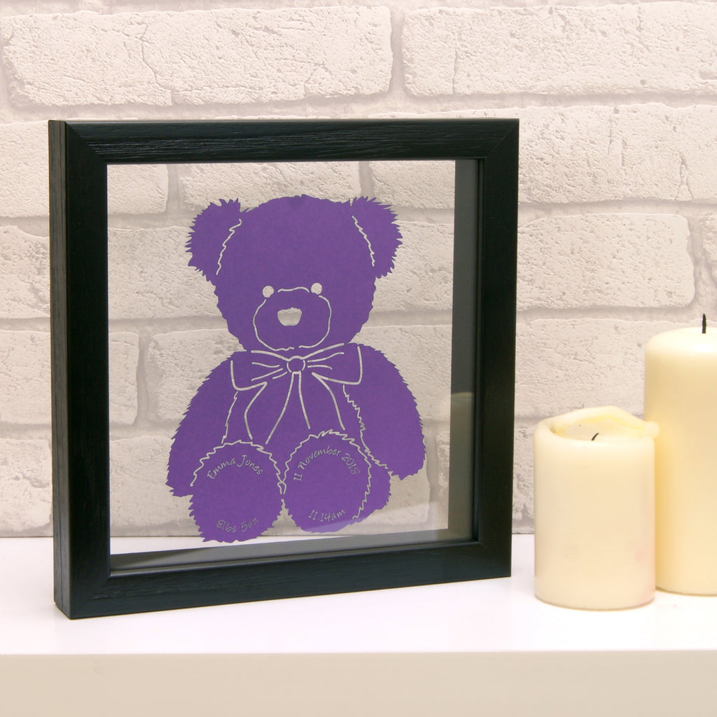Teddy Bear in Matt Purple