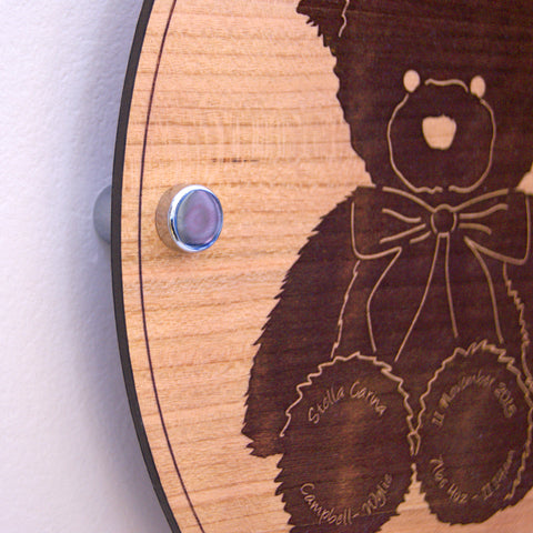 Personalised Baby Teddy Bear Wall Plaque