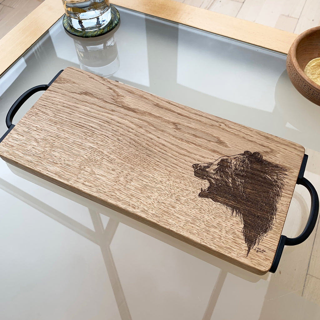 Wooden Bear Serving Board
