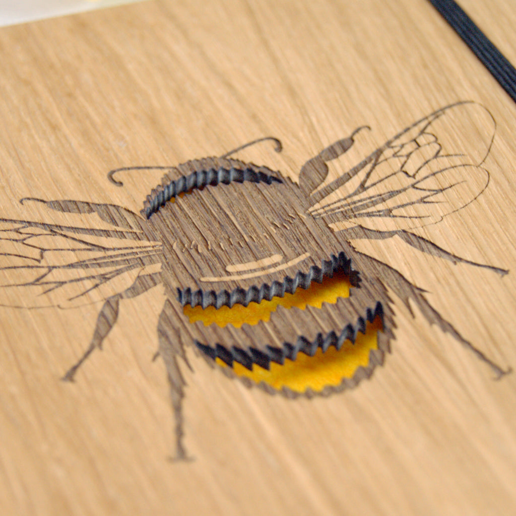Bumble Bee Notebook in Yellow