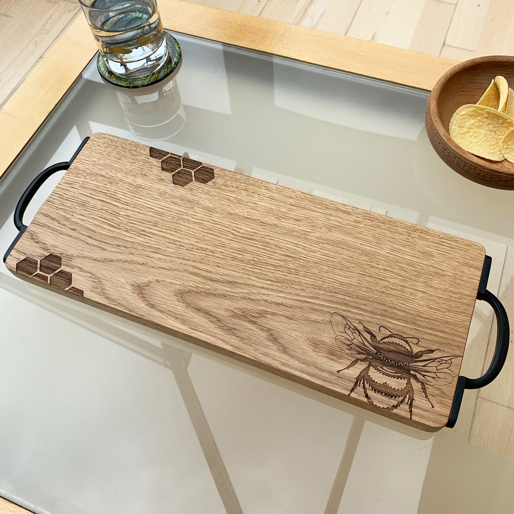 Wooden Bumble Bee Serving Board