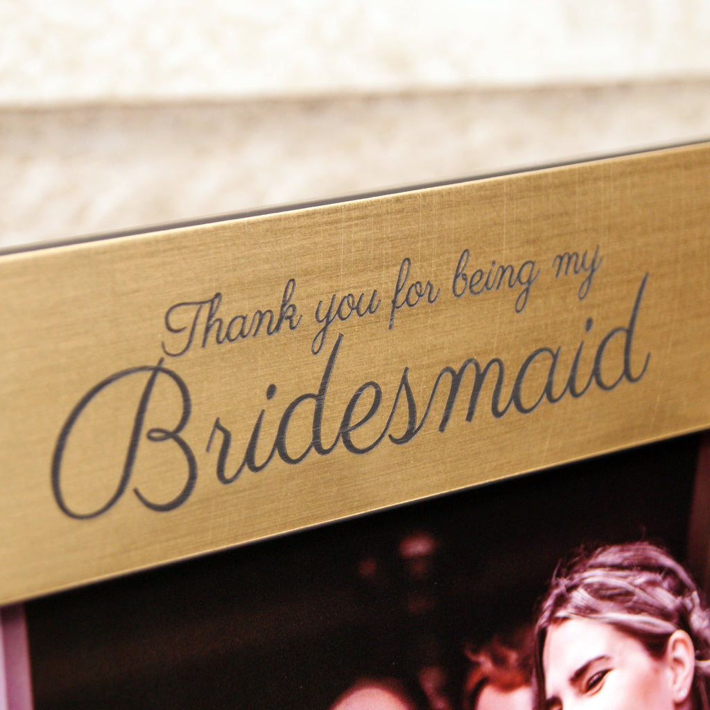 Personalised Bridesmaid Photo Frame