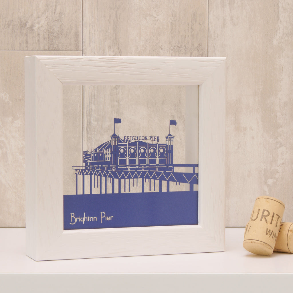 Brighton Pier in Matt Royal Blue