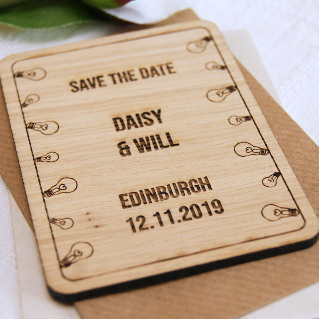 Light Bulb Save The Date Magnet