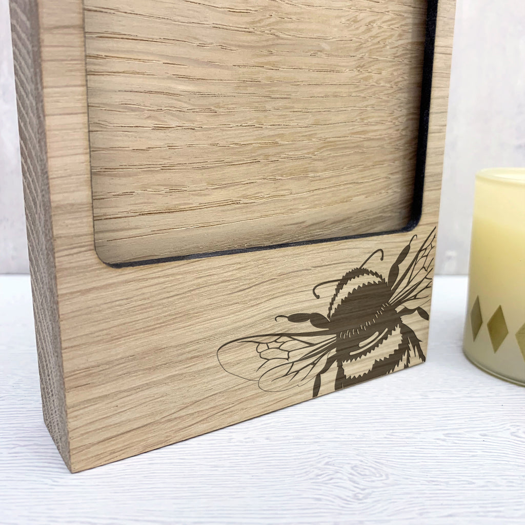 Wooden Bumble Bee Photo Block