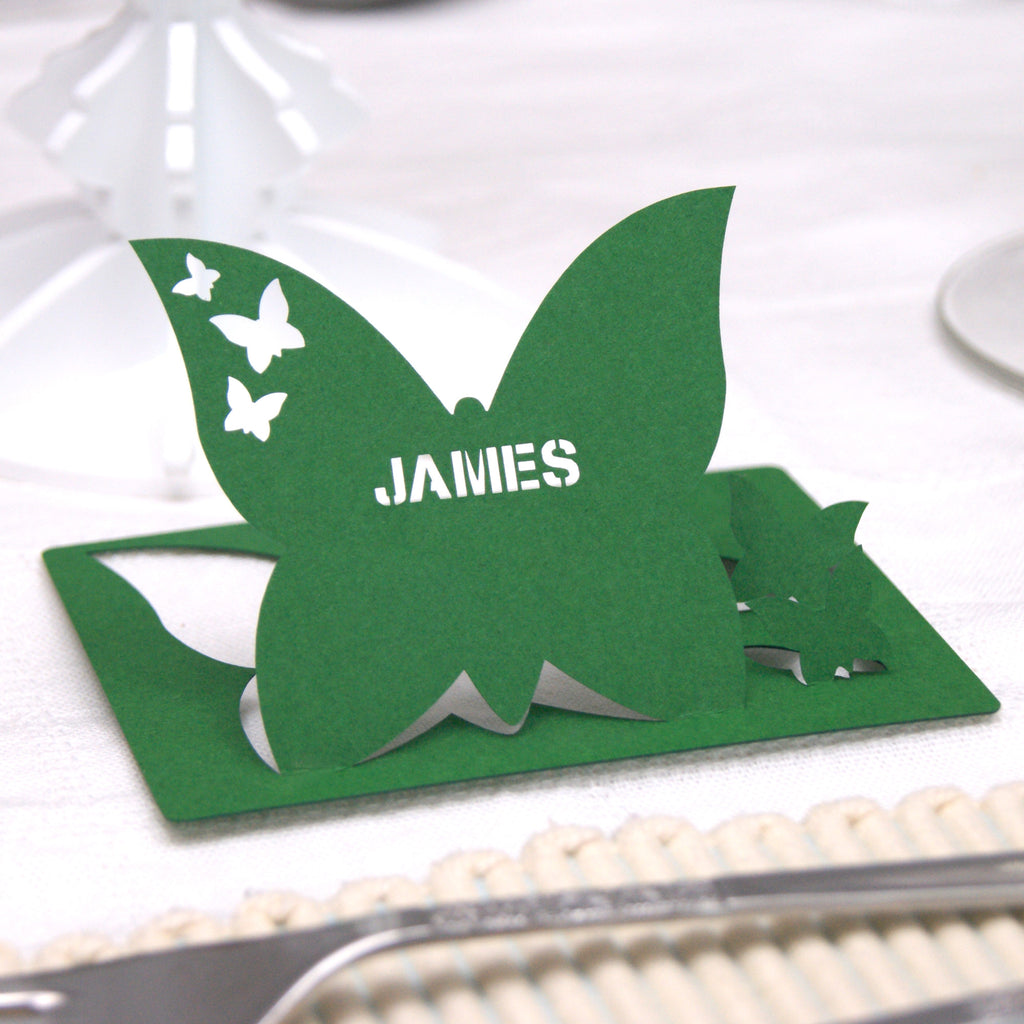 Butterfly Place Card in Green