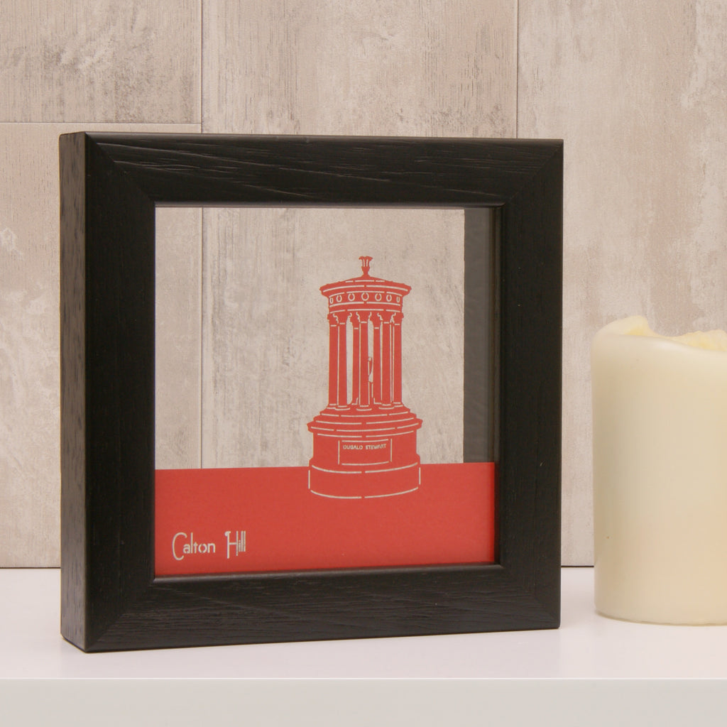 Edinburgh Calton Hill in Matt Bright Red
