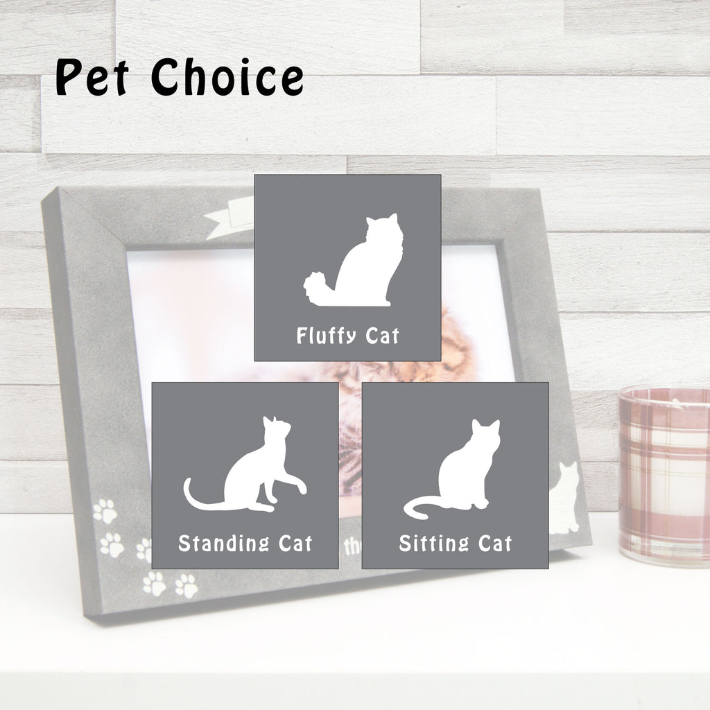Personalised Stone-Effect Cat Photo Frame