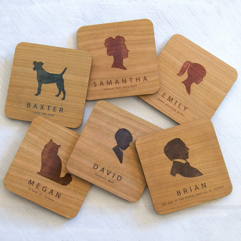 Personalised Portrait Coaster