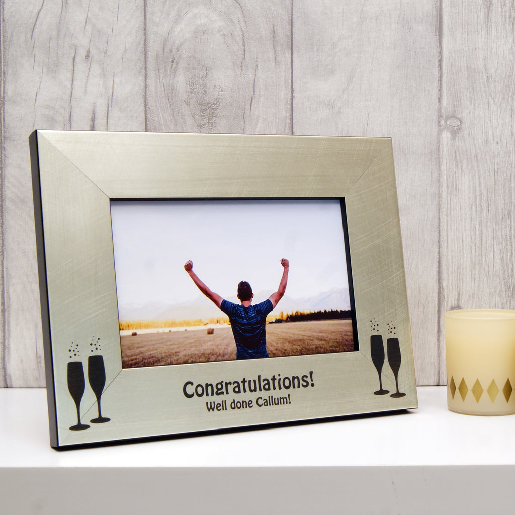 Personalised Congratulations Photo Frame